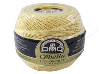 DMC Cebelia Crochet Cotton Size 10 #745 Banana Yellow