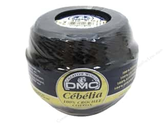 yarn & needlework: DMC Cebelia Crochet Cotton Size 10 #310 Black