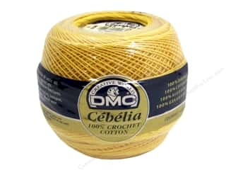 DMC Cebelia Crochet Cotton Size 20 #743 Medium Yellow