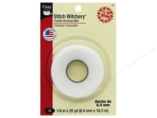 Yard Sale Stitch Witchery by Dritz : Stitch Witchery Fusible Bonding Web by Dritz Regular 1/4 in. x 20 yd.