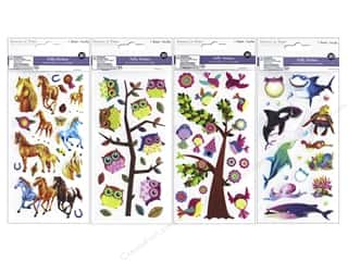 Multicraft Sticker Puffy 3D 4 Styles Assorted #1 (4 sets)