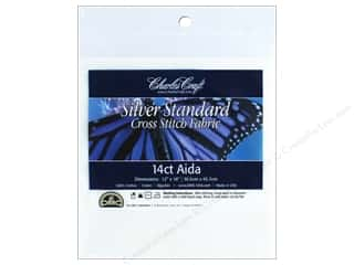Charles Craft Silver Standard 14-count Aida Cloth 12 x 18 in. White