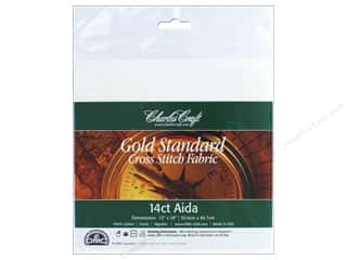yarn & needlework: Charles Craft Gold Standard 14-count Aida Cloth 12 x 18 in. White