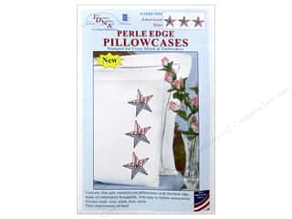 Jack Dempsey Pillowcase Perle Edge White American Stars