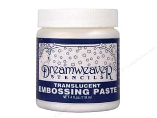 embossing paste: Dreamweaver Stencil Embossing Paste 4oz Translucent