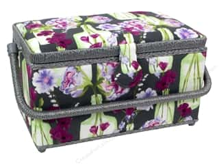 Mothers Day Gift Ideas Fabric Fanatics: St Jane Sewing Baskets Medium Rectangle Floral Grey