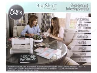 die cutting machines: Sizzix Big Shot Plus Starter Kit - White &Gray
