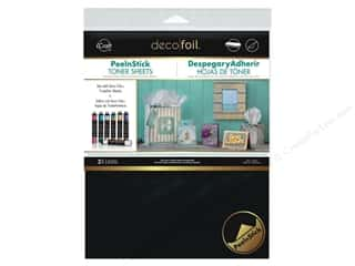 foil: iCraft Deco Foil Toner Sheet 8 x 10 1/2 in. Peel N Stick 2 pc.