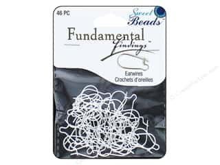 beading & jewelry making supplies: Sweet Beads Fundamental Finding Kidney Earwire 46 pc. Silver