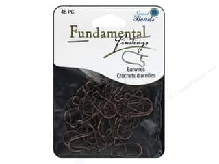 beading & jewelry making supplies: Sweet Beads Fundamental Finding Kidney Earwire 46 pc. Antique Copper