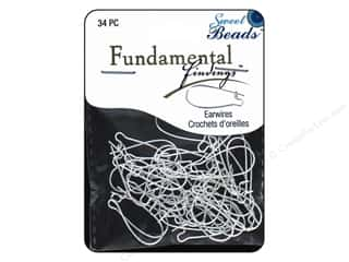 beading & jewelry making supplies: Sweet Beads Fundamental Finding Kidney Earwire 34 pc. Large Silver
