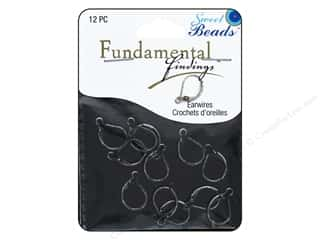 beading & jewelry making supplies: Sweet Beads Fundamental Finding Leaver Back Earring Finding 12 pc. Antique Silver