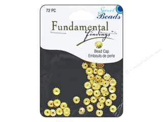 beading & jewelry making supplies: Sweet Beads Fundamental Finding Cap 6 mm Fluted Gold 72pc