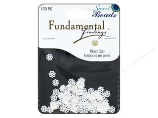 beading & jewelry making supplies: Sweet Beads Fundamental Finding Cap 6 mm Filigree Silver 120pc