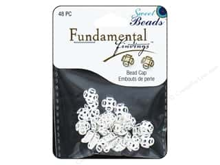 beading & jewelry making supplies: Sweet Beads Fundamental Finding Cap 8 mm Filigree Silver 48pc