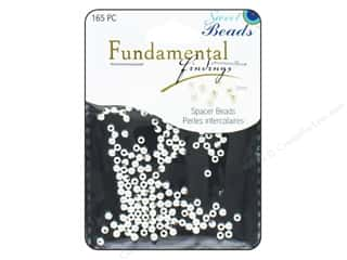 beading & jewelry making supplies: Sweet Beads Fundamental Finding Metal Bead 3 mm Round 165 pc. Silver