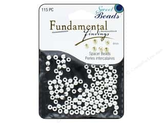 beading & jewelry making supplies: Sweet Beads Fundamental Finding Metal Bead 4 mm Round 115 pc. Silver