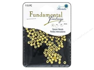 beading & jewelry making supplies: Sweet Beads Fundamental Finding Metal Bead 4 mm Round 115 pc. Gold