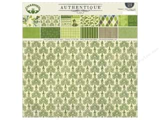 Holiday Sale Designer Papers & Cardstock: Authentique 12 x 12 in. Paper Pad Charmed Collection