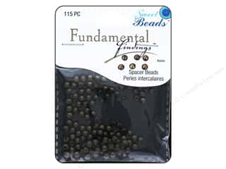Cap  Findings / Spacer Findings: Sweet Beads Fundamental Finding Metal Bead 4 mm Round 115 pc. Antique Gold