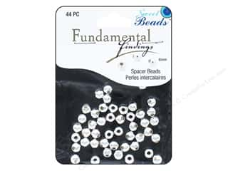 Sweet Beads Fundamental Finding Metal Bead 6 mm Round 44 pc. Silver