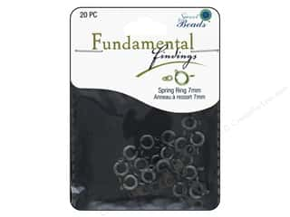 beading & jewelry making supplies: Sweet Beads Fundamental Finding Spring Ring Clasp 5/16 in. Antique Silver 20 pc.
