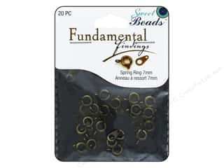 beading & jewelry making supplies: Sweet Beads Fundamental Finding Spring Ring Clasp 5/16 in. Antique Gold 20 pc.