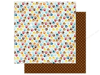 Echo Park 12 x 12 in. Paper Bark Collection Paw Prints Picture