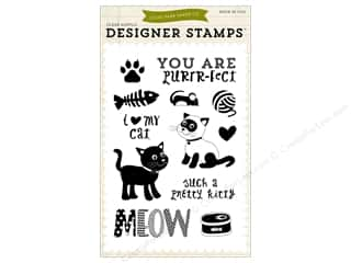 Echo Park Designer Stamp Meow Collection Pretty Kitty Picture