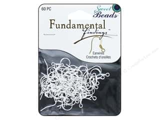 beading & jewelry making supplies: Sweet Beads Fundamental Finding Earwire with Coil 60 pc. Silver