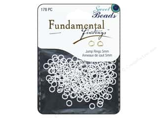 beading & jewelry making supplies: Sweet Beads Fundamental Finding Jump Rings 5 mm Silver 178 pc.