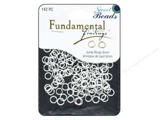 beading & jewelry making supplies: Sweet Beads Fundamental Finding Jump Rings 6 mm Silver 142 pc.