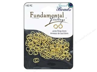 beading & jewelry making supplies: Sweet Beads Fundamental Finding Jump Rings 6 mm Gold 142 pc.
