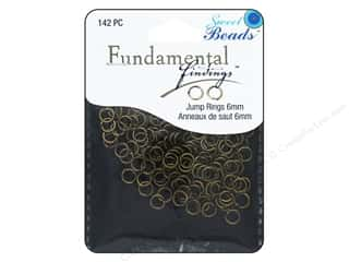 craft & hobbies: Sweet Beads Fundamental Finding Jump Rings 6 mm Antique Gold 142 pc.
