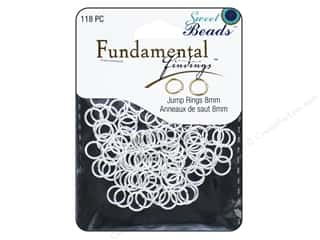 beading & jewelry making supplies: Sweet Beads Fundamental Finding Jump Rings 8 mm Silver 118 pc.
