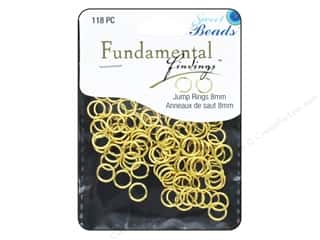 beading & jewelry making supplies: Sweet Beads Fundamental Finding Jump Rings 8 mm Gold 118 pc.
