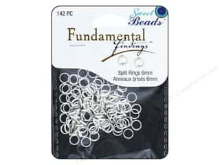 craft & hobbies: Sweet Beads Fundamental Finding Spring Ring Clasp 1/4 in. Silver 142 pc.