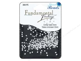 beading & jewelry making supplies: Sweet Beads Fundamental Finding Crimp Tubes 2 mm 300 pc. Silver