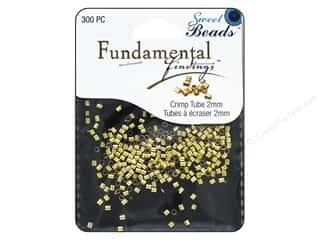beading & jewelry making supplies: Sweet Beads Fundamental Finding Crimp Tubes 2 mm 300 pc. Gold