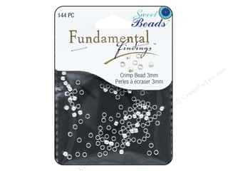 beading & jewelry making supplies: Sweet Beads Fundamental Finding Crimp Beads 3 mm 144 pc. Silver