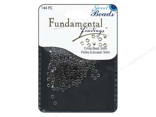 beading & jewelry making supplies: Sweet Beads Fundamental Finding Crimp Beads 3 mm 144 pc. Antique Silver