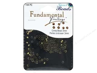 beading & jewelry making supplies: Sweet Beads Fundamental Finding Crimp Beads 3 mm 144 pc. Antique Gold