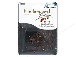 beading & jewelry making supplies: Sweet Beads Fundamental Finding Crimp Beads 3 mm 144 pc. Antique Copper