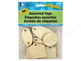 twine: Forster Woodsies Tags Assorted 20pc
