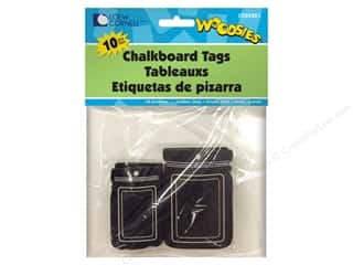 Forster Woodsies Tags Mason Jar Chalkboard 10pc