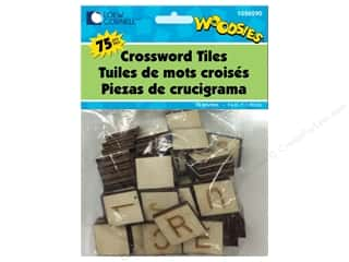 craft & hobbies: Forster Woodsies Crossword Tiles 75pc