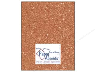 Cardstock 8 1/2 x 11 in. #5109 Glitz Silver/Tangerine by Paper Accents 5 pc. Picture