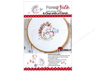 yarn & needlework: Red Brolly Kit Forest Folk A Chat With A Friend