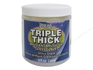 DecoArt Triple Thick Gloss Glaze 8 oz. Jar