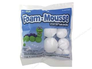 ribbon: FloraCraft Styrofoam Ball Assorted Size White 12 pc.